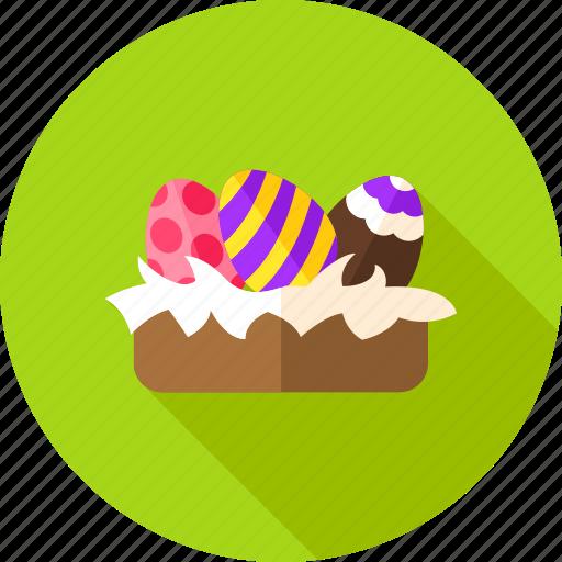 easter, easter egg, egg, greetings, holiday, nest, seasonal icon
