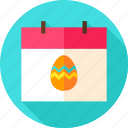 calendar, date, easter, egg, holiday, season, spring icon