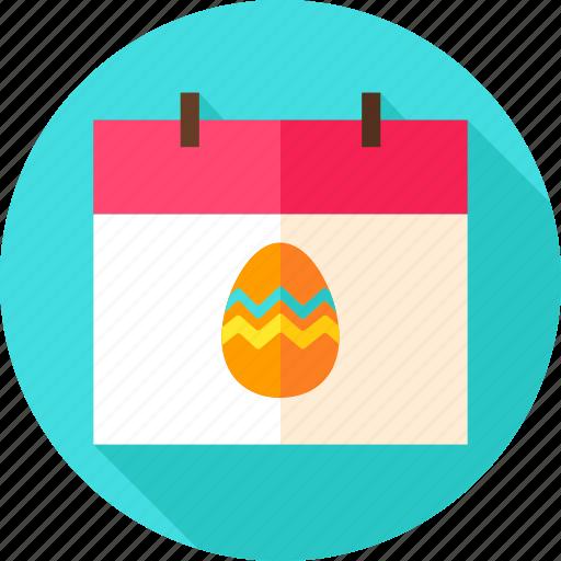calendar, date, easter, egg, holiday, season, spring icon