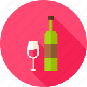 alcohol, beverage, bottle, celebration, drink, glass, wine icon
