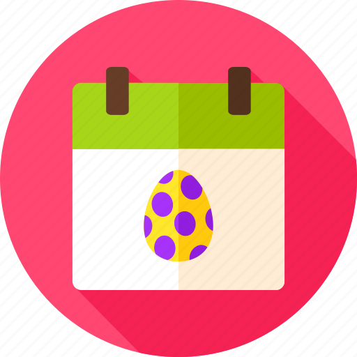calendar, date, easter, egg, holiday, seasonal, spring icon