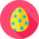 celebration, easter, easter egg, egg, flower, holiday, religion icon