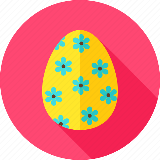 celebration, easter, easter egg, egg, flower, holiday, religion icon