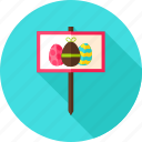 celebrate, easter, egg, egg hunt, greeting, holiday, sign icon