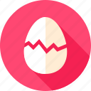 chicken, crack, crash, egg, eggshell, food, hen icon