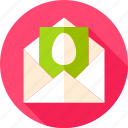 easter, egg, envelope, greeting, holiday, invitation, mail icon