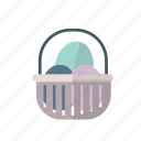 basket, easter, easter basket, egg, happy icon