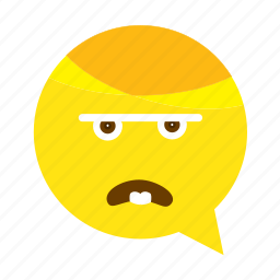 angry, emoji, face, smiley icon