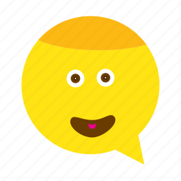 emoji, face, smile, wide icon