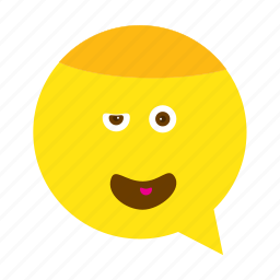 emoji, face, smiley, wink icon