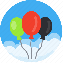 balloon, balloons, birthday, celebration, decoration, event, festival, graduation, helium, promo, vacation icon