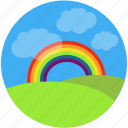 charity, childhood, children, dream, holidays, rainbow, summer, visualize icon