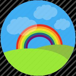 charity, childhood, children, dream, holidays, inspire, rainbow, summer, visualize icon
