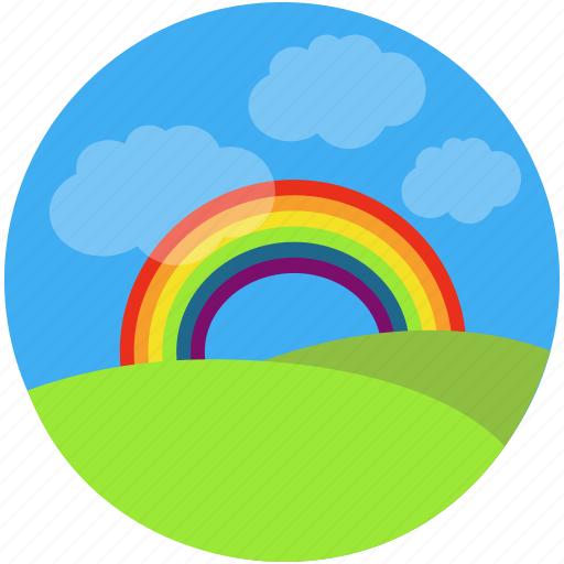 charity, childhood, children, dream, holidays, rainbow, summer, visualize icon
