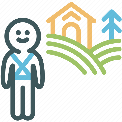 agriculture, farmer, farming, human, poverty, rancher, resource icon
