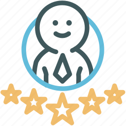 businessman, human, outstanding, outstanding employee, professional, rating, star icon