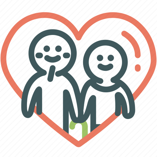 human, lover, old, relationship, resource, soulmate, valentine icon