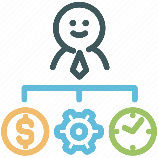 Business man, human, money, planning, resource, start up, time icon - Download on Iconfinder