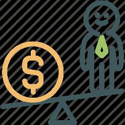 finance, human, human resource, money, resource, weight measure icon
