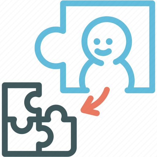 business partner, human, jigsaw, partner, perfect, puzzle, resource icon