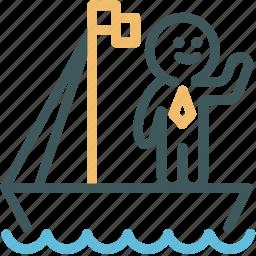 cruising, human, logistic, resource, transportation icon