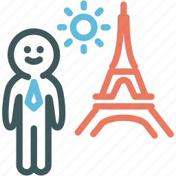 business, businessman in city, human, man, metropolis, resource, worker icon