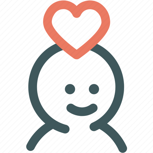 Heart, resource, love, fascinated, valentine, human, in love icon