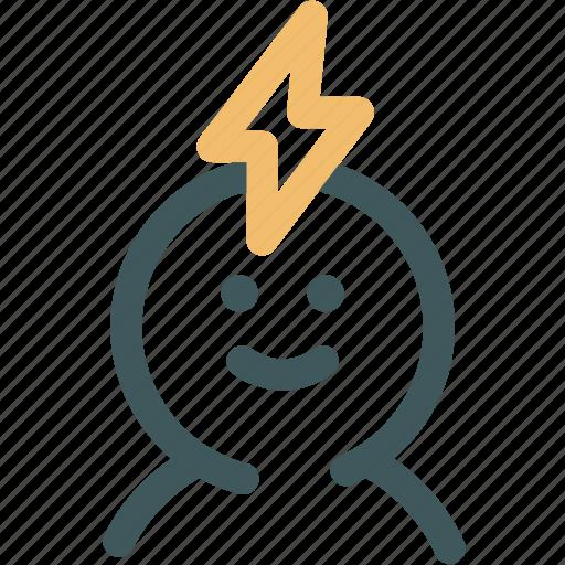 Head, brain power, creative, human, resource, brainstorm, power icon