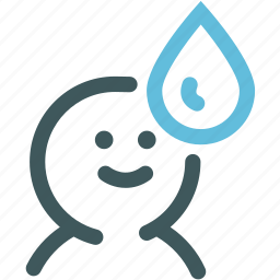 ecology, get water, human, nature, resource, water, water conservation icon