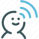 human, internet, psychic, resource, telepathy, wifi, wireless icon