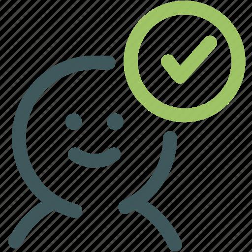 avatar, correct, human, resource, tick, user, user okay icon