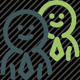 businessman, friend, human, human resources, management, resource, team icon