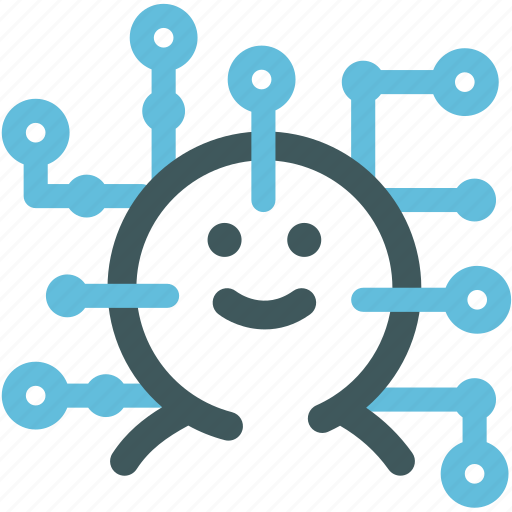computer virus, digital man, human, programmer, resource, robot, technology icon