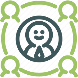 directional, human, important, network, person, resource, target icon