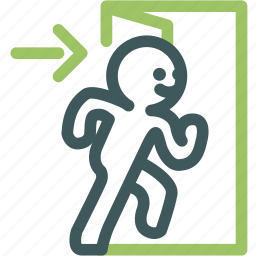 door, enter, entrance, human, open, person, resource icon