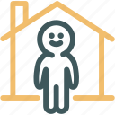 architecture, home, house, human, man, resource, single house icon