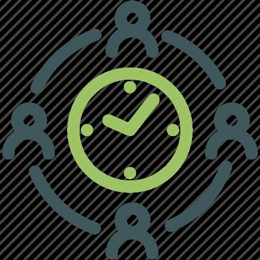businessman, deadline, due date, human, resource, team, time crunch icon