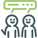 community discussion, discuss, discussion, gossip, resource, speaking, speech icon