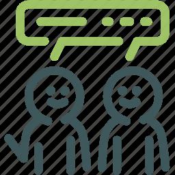 community discussion, discuss, discussion, gossip, resource, speaking, speech icon