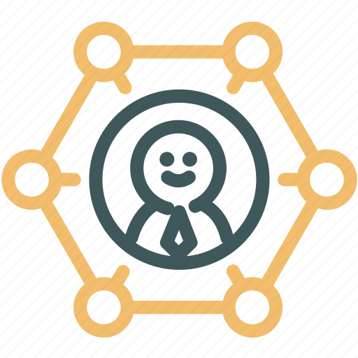 Resource, network, connections, relation, human, team, work team icon