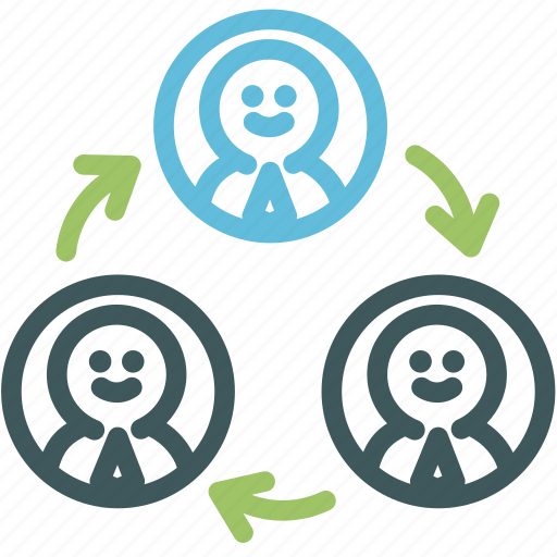 connection, exchange, human, resource, social, talk, users icon