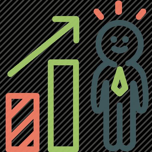 Businessman, human, improvement, progress, promotion, resource icon - Download on Iconfinder