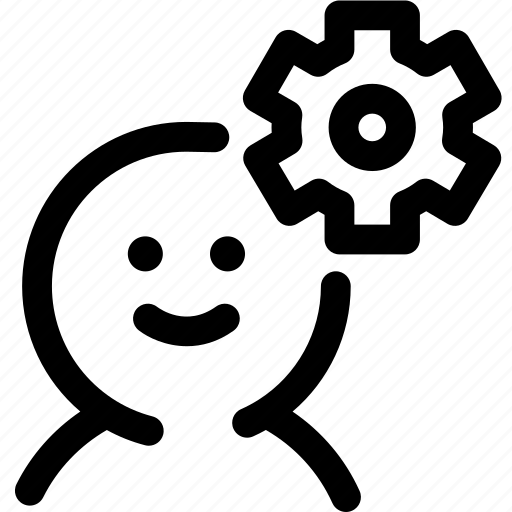human, mechanism, member, resource, setting, user settings icon
