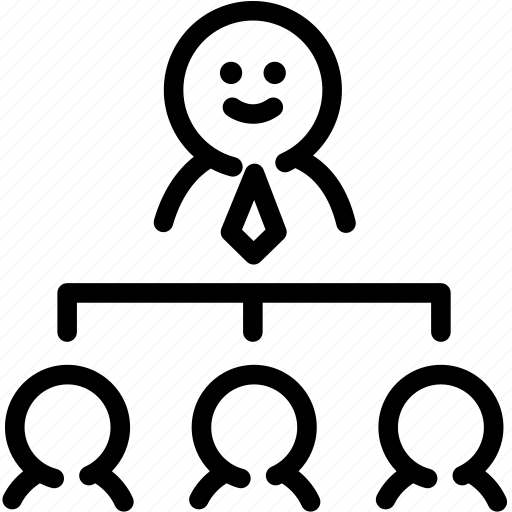 diagram, employee, human, organization, resource, staff icon