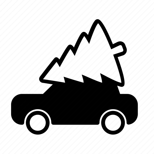 car, delivery, fir tree, new year, spruce, winter, xmas icon