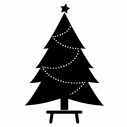 chair, christmas tree, fir, new year, party, spruce, tree icon