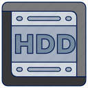 hdd, portable icon