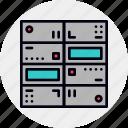 center, centre, data, database, mainframe, network, supercomputer icon