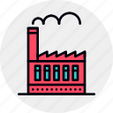 factory, industrial, industry, manufacturing, plant, production, warehouse icon
