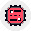 chip, cpu, microchip, microcontroller, processor, technology, unit icon